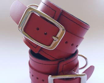 Leather Ankle Cuffs (Small)