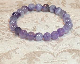 Amethyst Gemstone Stretch Bracelet
