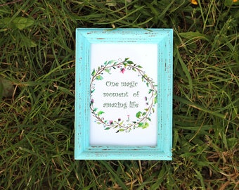 Airy Blue Frame - Wedding Frames, Shabby Chic Rustic Picture Frames
