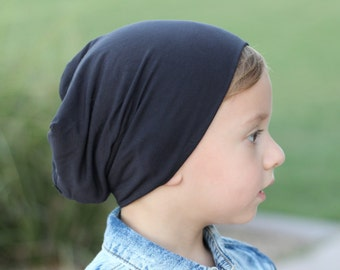 Charcoal baby boy beanie / Toddler Slouchy hat / Hipster beanie / Baby slouchy beanie / Baby beanie / Slouch beanie /Baby boy slouchy beanie