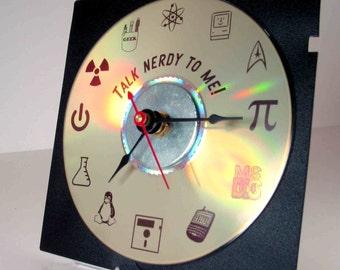 Talk Nerdy To Me Desk Clock