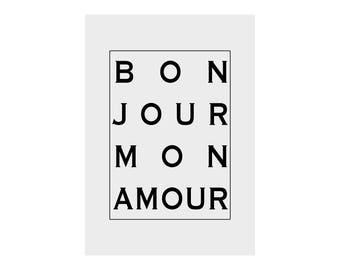 Bonjour Mon Amour - Gift Print