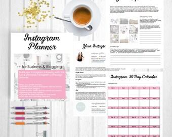 Instagram Planner   Social Media Planner   Instagram Guide   Instagram Tutorial   Instagram Worksheet   PDF Printable   Shanhan Studio
