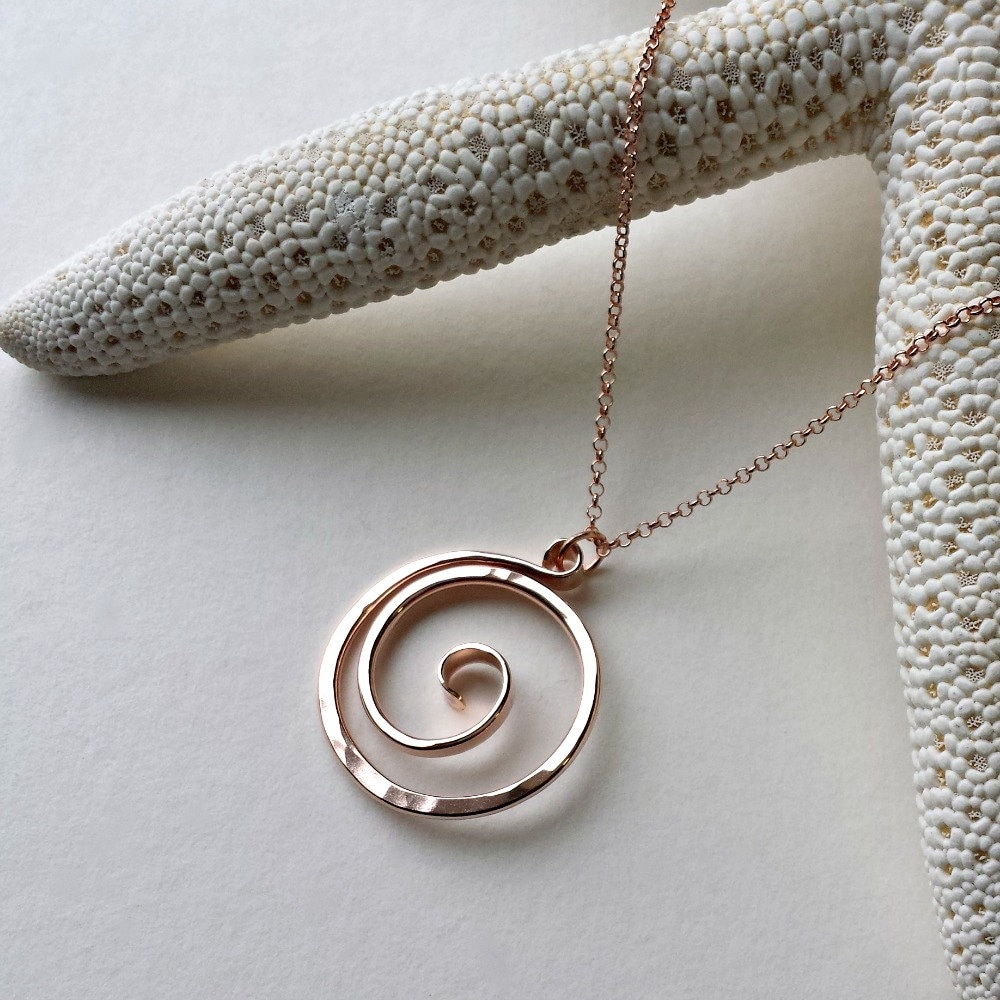 skyline queenstown palladium necklace products pendant paua koru