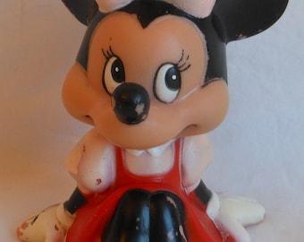 1970s Walt Disney Productions Minnie Mouse Squeeze Squeak Toy Figure