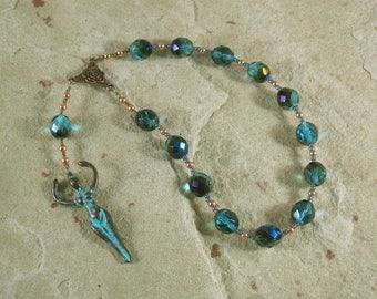Goddess Pocket Prayer Beads with Nile Goddess Pendant