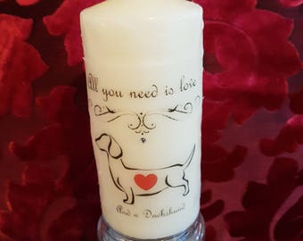 Doggy Love candle