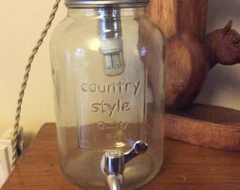 Glass jar light