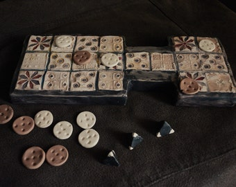 Royal Game of Ur - Ur Game, wooden board game, handmade board game, ancient game, sumer game, strategy game, rustic, British Museum, History