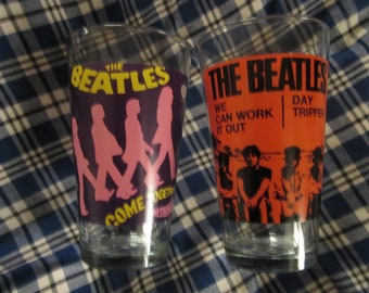 The Beatles Album Cover Glass Tumblers Set