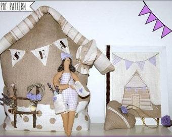 Casa dolce casa ,cartamodello in  pdf,fermaporta