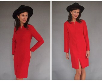 Vintage Red Designer Shift Dress