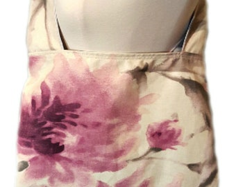 Beach bag, Eco-Friendly bag, Shopping bag, Pink handbag, Floral bags, Crossbody bag, Large totes, Reversible bag, Vegan handbag