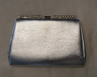 Silver and Rhinestone Evening Bag