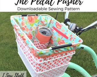 SEWING PATTERN The Pedal Pusher Bike Basket Liner PDF Digital Download