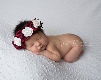 Baby photo prop, Newborn Headband, Flower Crown, Baby Headband, Halo Headband, Photo Prop, newborn photo prop, baby crown, baby photo prop,