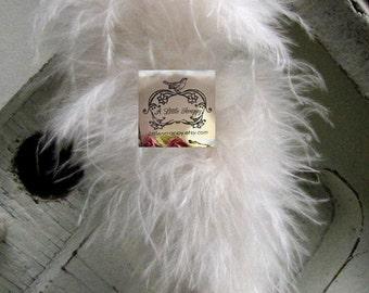 Marabou Boa Feathers Ivory Small Short Haired