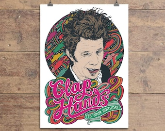Tom Waits - Clap Hands - It's Your Birthday - Greeting Card