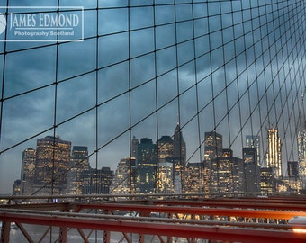 New York Digital Download, Landscape, Brooklyn Bridge, Brooklyn, Fine Art Photography, NYC Photography, City Photography, New York Prints