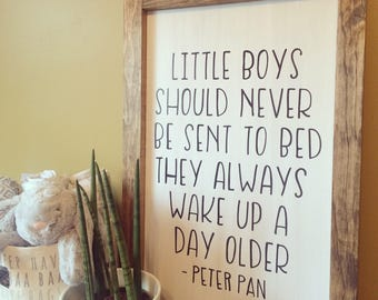 Little Boys Should Never Be Sent To Bed Sign | #burlapandbarn