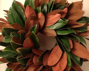 Handmade Magnolia Wreath 18-20 inches