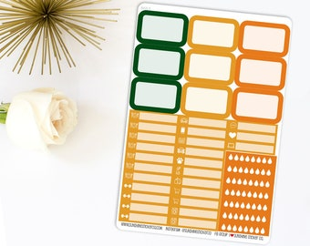 St. Patrick's Day Ombre Checklist Planner Stickers 842L4