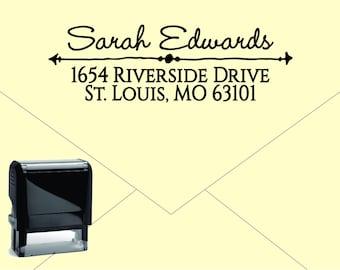 Self Inking Return Address Stamp * Custom Address Rubber Stamp (E422) Arrow