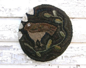 Brown Bird - DIGITAL/PDF Rug Hooking Pattern - from Notforgotten Farm™