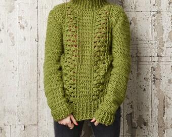 Textured Crochet Jumper, Bobble Jumper, Crochet Pullover, Crochet Pattern, Wendy Yarn, Crochet Pullover, Jumper Pattern, Sara Huntington