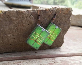 Robin Hood Miniature Book Charm Earrings - Gifts for Girls - Book Lover - Teacher jewelry