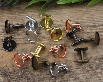 50PCS (25 pairs) CUFFLINKS / Domed / Rustic Wedding / Groomsmen Gift / Carpenter Gift / Choice of Color / Mens Wooden Cuff Links 12-20mm
