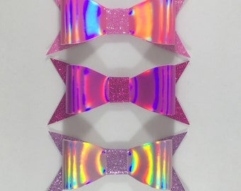 Choice of holographic and glitter hairbow