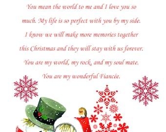 Fiancee Christmas Card cute