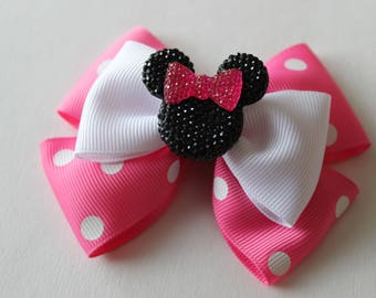 Minnie Mouse Pink Inspired Bow