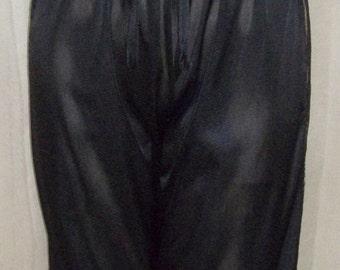 Vintage Strapless Black One Piece Pajama Romper Jumpsuit Pants Medium Fantasy Lingerie