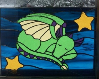 Sleeping Dragon Stained Glass