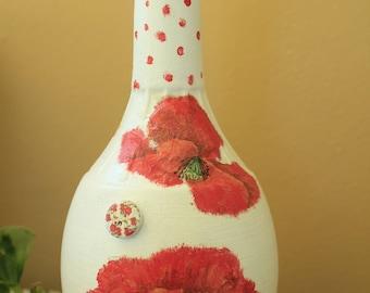 handmade decoupage  bottle 0016