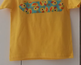 Children T Shirt, Yellow, Duck Toy with Handle for carrying, Size 3T