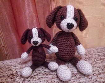 Cute Puppy Chocolate Dog Ornament 2018 The Year of the Dog Lover Gift Amigurumi Stuffed Crochet Plush Toy Baby Shower Gift Lover Handmade