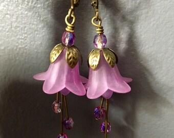 Bronze Lilic Lily Flower Earrings