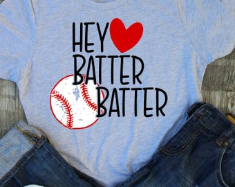 Hey Batter Batter; SVG; PNG; DXF; Digital Download; Vector; Cut File; Cameo File; Silhouette File; Cricut File; Baseball; Baseball File;