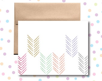 GC032 // Colorful Arrows Card