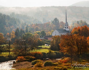 "Fall Decor | ""Stowe Community Church"" 