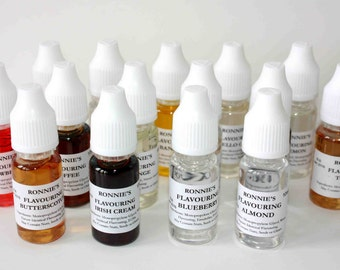 Edible SET of 19 Concentrated Liquid Flavourings Baking Icing Sweets Drinks