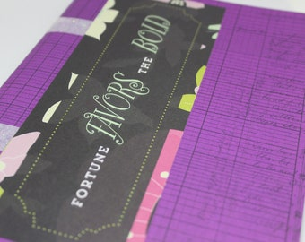"""Gratitude/Sketch/Self-Care Journal - """"Fortune Favors the Bold"""" - Notebook"""