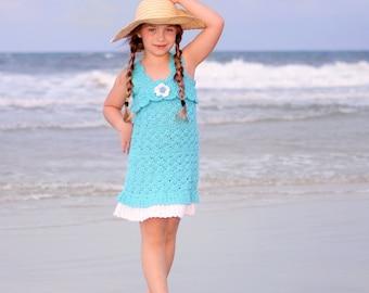 Crochet Sundress Pattern - Girls Crochet Dress Pattern - Cover Up Crochet Pattern Toddler Crochet Dress Pattern 2T To 10 Sunkissed Sundress