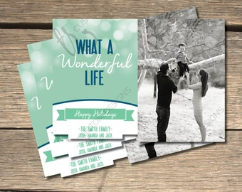 What a Wonderful Life Holiday Photo Card- 5x7