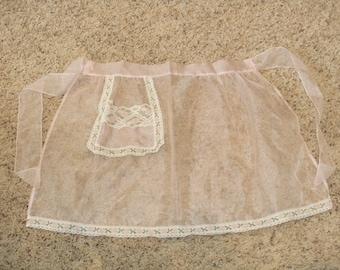 Vintage Sheer Pocket Apron