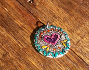 Colorful medallion necklace