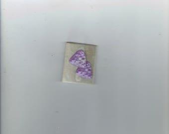 cute little purple earrings 1980's
